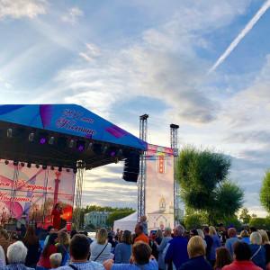 Концерт ко Дню города Колпино. Поздравила жителей Колпино с праздником.